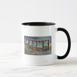Maine (Winter)Large Letter Scenes Mug