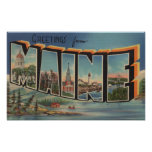 Maine (Winter)Large Letter Scenes Poster