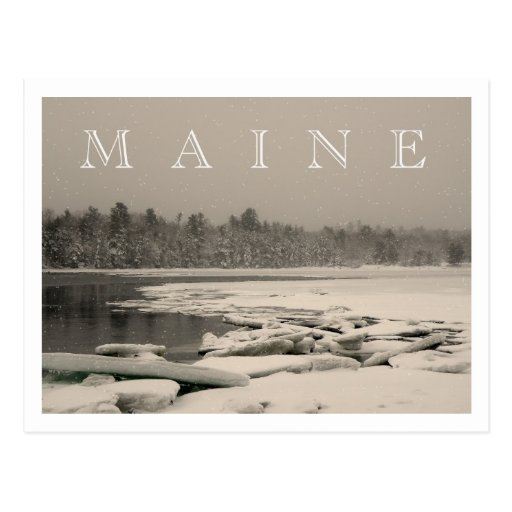 MAINE - Winter on the Bay Postcard