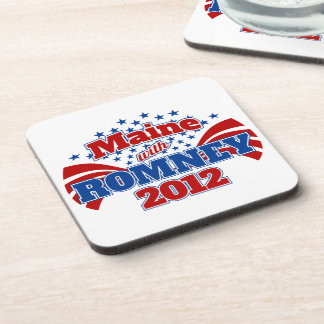Maine with Romney 2012 Drink Coaster