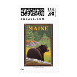 MaineBlack Bear in Forest Stamps