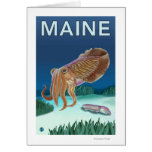 MaineCuttlefish Scene Greeting Card