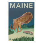 MaineCuttlefish Scene Wood Wall Art