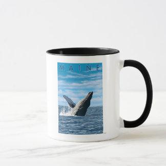 MaineHumpback Whale Scene Mug