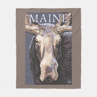 MaineMoose Up Close Fleece Blanket