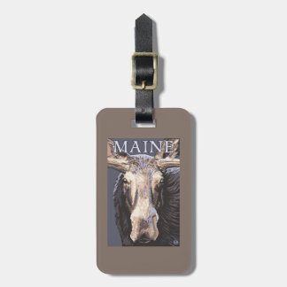 MaineMoose Up Close Luggage Tag