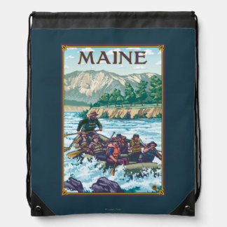 MaineRiver Rafting Scene Drawstring Bag