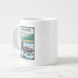 MaineRiver Rafting Scene Large Coffee Mug