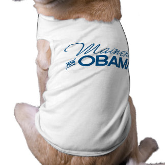 Mainers for Obama -.png Dog Tshirt