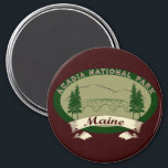 """Maine&#39;s Acadia National Park Magnet<br><div class=""""desc"""">Bring back memories of the stone arch bridges on the carriage trails,  Cadillac Mountain,  and all the trees in between.</div>"""