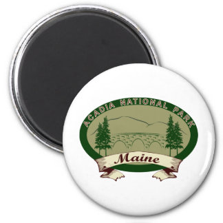 Maine's Acadia National Park 2 Inch Round Magnet