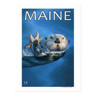 MaineSea Otter Scene Postcards