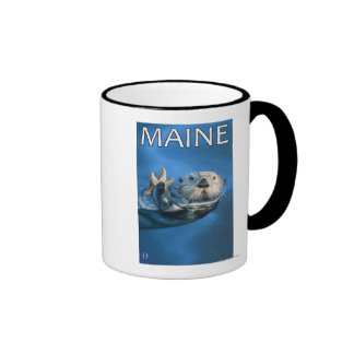 MaineSea Otter Scene Ringer Coffee Mug