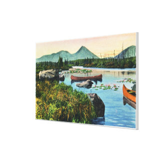 MaineSourdnahunk Valley Lily Pad Pond Scene Canvas Print