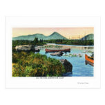 MaineSourdnahunk Valley Lily Pad Pond Scene Postcard