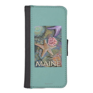 MaineTidepool Scene iPhone SE/5/5s Wallet Case