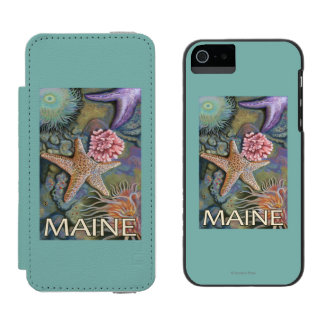 MaineTidepool Scene Wallet Case For iPhone SE/5/5s
