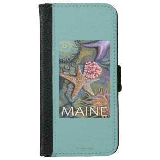 MaineTidepool Scene Wallet Phone Case For iPhone 6/6s