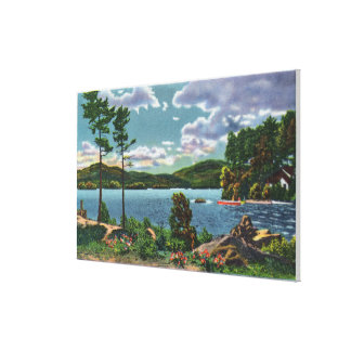 MaineView of Squaw Mountain and Moosehead Lake Gallery Wrapped Canvas