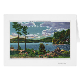 MaineView of Squaw Mountain and Moosehead Lake Greeting Cards
