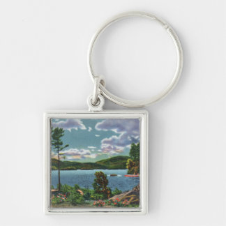 MaineView of Squaw Mountain and Moosehead Lake Keychain