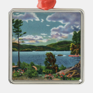 MaineView of Squaw Mountain and Moosehead Lake Metal Ornament