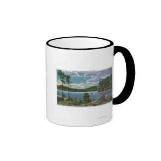 MaineView of Squaw Mountain and Moosehead Lake Coffee Mugs