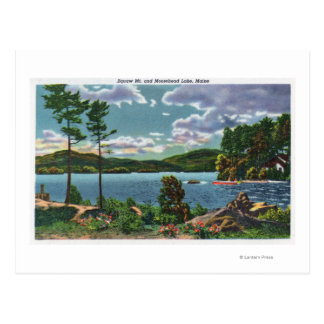 MaineView of Squaw Mountain and Moosehead Lake Postcard