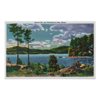 MaineView of Squaw Mountain and Moosehead Lake Posters