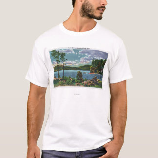 MaineView of Squaw Mountain and Moosehead Lake T-Shirt