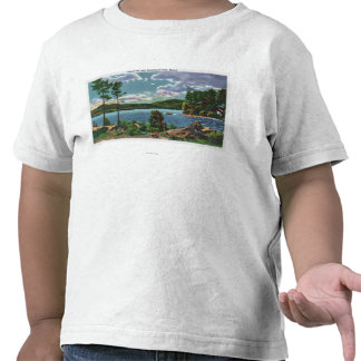 MaineView of Squaw Mountain and Moosehead Lake T Shirt