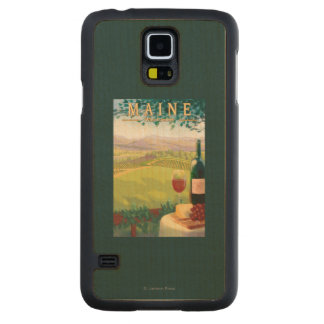 MaineWine Country Scene Carved® Maple Galaxy S5 Slim Case