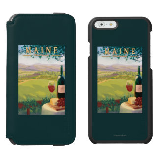MaineWine Country Scene iPhone 6/6s Wallet Case