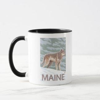 MaineWolf Scene Mug