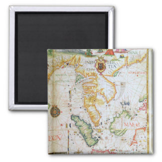 Mainland Southeast Asia, detail from world atlas 2 Inch Square Magnet