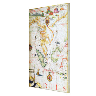 Mainland Southeast Asia, detail from world atlas Canvas Print