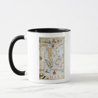 Mainland Southeast Asia, detail from world atlas Mug