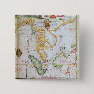 Mainland Southeast Asia, detail from world atlas Pinback Button