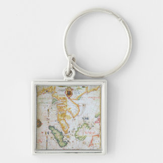 Mainland Southeast Asia, detail from world atlas Silver-Colored Square Keychain