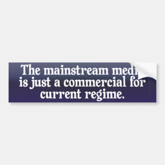 Mainstream Media Bumper Sticker Car Bumper Sticker