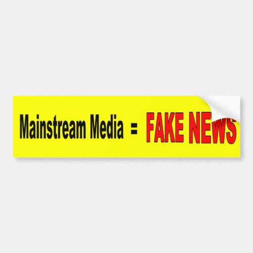 Mainstream Media  FAKE NEWS Bumper Sticker