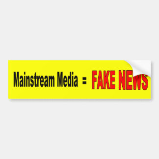 """Mainstream Media = FAKE NEWS"" Bumper Sticker"