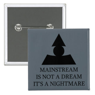 Mainstream Nightmare 2 Inch Square Button