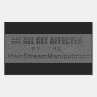 MainStreamManipulation Pegatina Rectangular