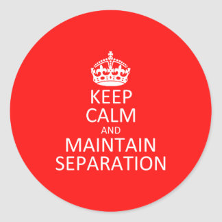 Maintain Separation Sticker