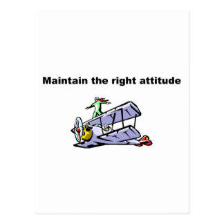 Maintain the right attitude postcard