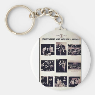 Maintaining War Workers' Morale Key Chains
