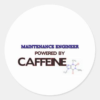 Maintenance Engineer Powered by caffeine Round Sticker