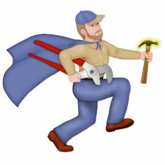 Maintenance Man Standing Photo Sculpture