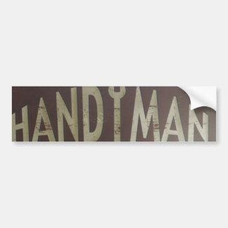 maintenance tools Construction Worker Handyman Bumper Sticker